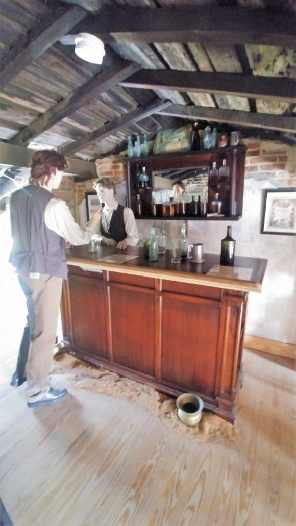 A depiction of a typical saloon that catered to the Irish working class in Baltimore. (SLM photo)