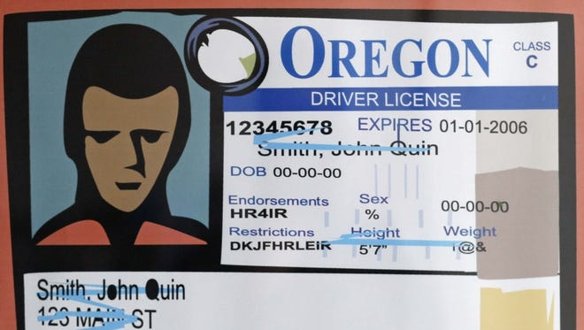 An artist rendering of the Oregon driver's license.