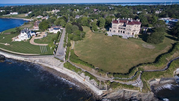 Cliff Walk in Newport, Rhode Island.