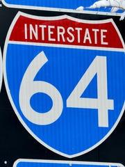 Interstate 64 sign.