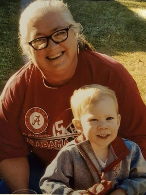 Peggy Broz with her grandson, Grayson.