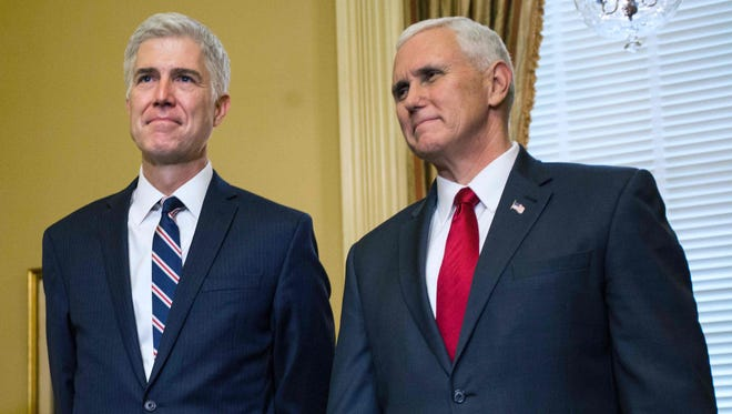 "Vice President Pence vowed Saturday that Supreme Court nominee Neil Gorsuch will get a Senate vote ""one way or the other."""