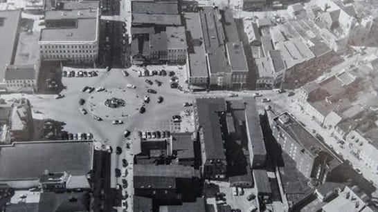 This aerial view of Hanover's Center Square from the