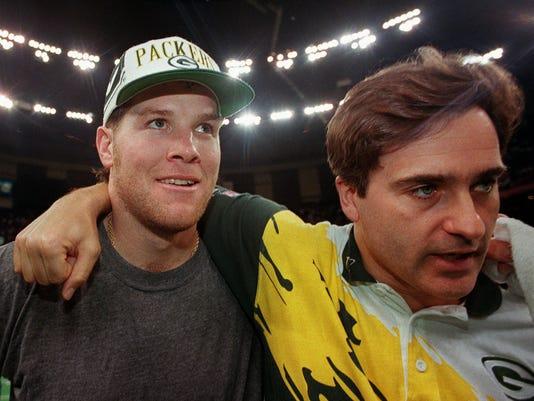 Brett Favre and Steve Mariucci