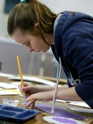 "Shaina Seager, 17, works on her ""Design It Yourself"""