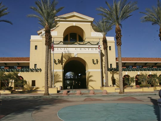 The Cathedral City City Hall.
