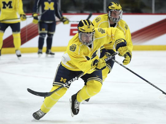 Michigan forward Adam Winborg scored the team's only goal Saturday.