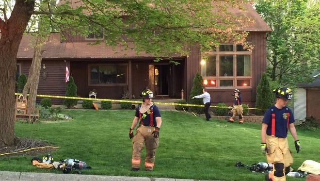 Fire investigation is underway at a Miami Township home Monday morning.