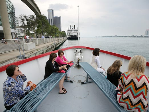 ASAE convention guests take a tour on the water taxi