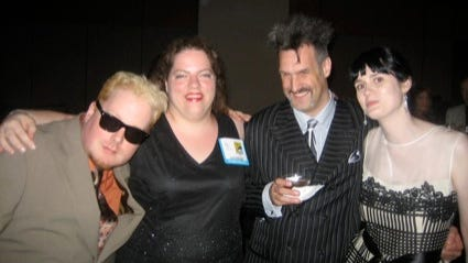 From left, Chris Reilly, Robin Brenner, James Sime and Whitney Matheson at the 2007 Eisner Award ceremony.
