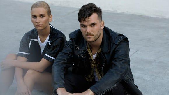Georgia and Caleb Nott, of New Zealand electro-pop