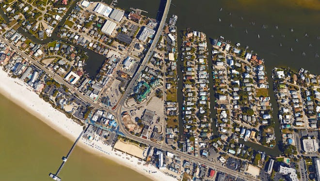 A 10-acre swathe of downtown Fort Myers Beach is proposed for the biggest redevelopment in the town's history.