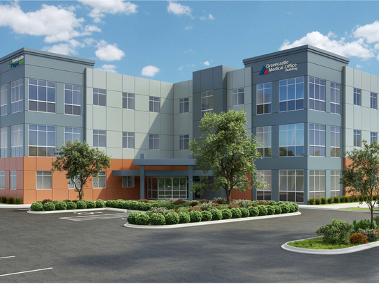 A rendering of the future Greencastle Medical Office