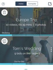 A screenshot of the app VidMob.