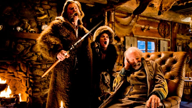 "Kurt Russell, left, Jennifer Jason Leigh and Bruce Dern are among the stars of ""The Hateful Eight,"" directed by Quentin Tarantino."