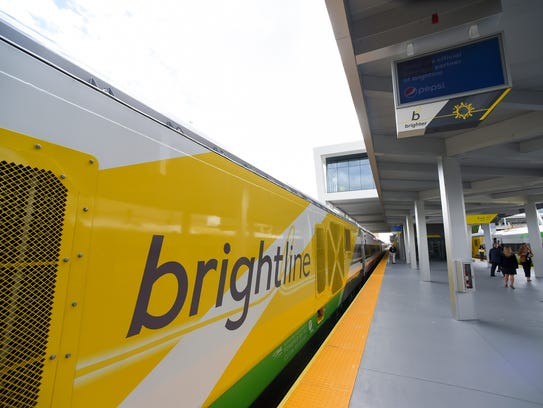 Brightline executives, elected officials and media personnel made the introductory trip between West Palm Beach and Fort Lauderdale Friday, Jan. 12, 2018, during an invitation-only media preview ride beginning and ending at the Brightline West Palm Beach station. The rail company unveiled its new Miami station, MiamiCentral, May 11.