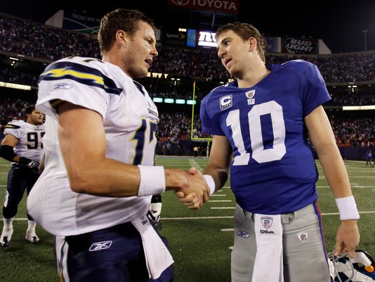 Philip Rivers and Eli Manning