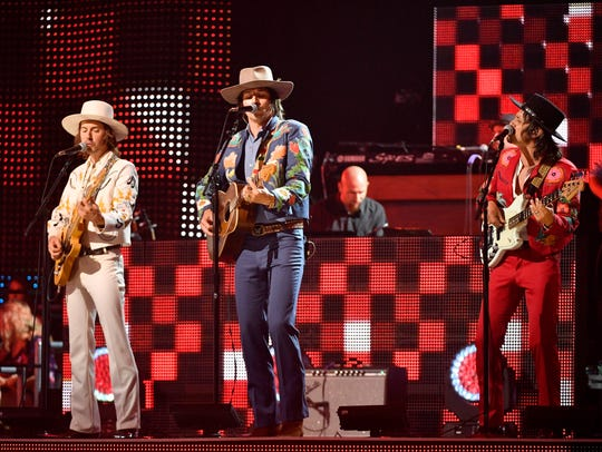Midland performs during the CMT Music Awards at Music