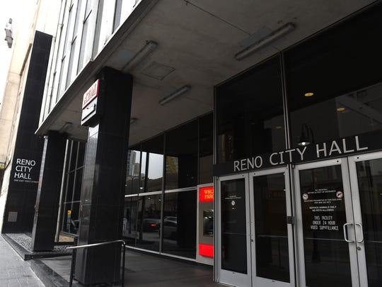 Reno City Hall is seen on Dec. 23, 2016.