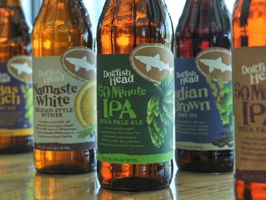 Dogfish Head's new, consistent bottle design, as shown