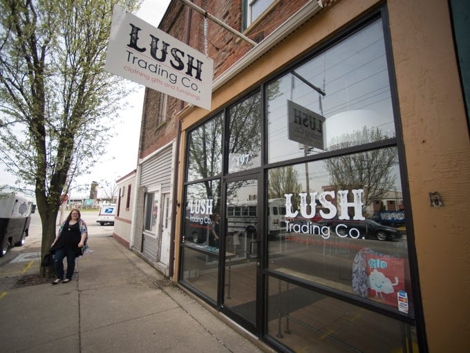 The exterior of Lush Trading Co. is seen in the Depot