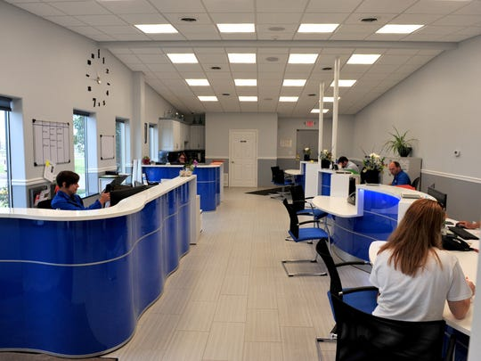 Flawless Auto Body shop office and reception.