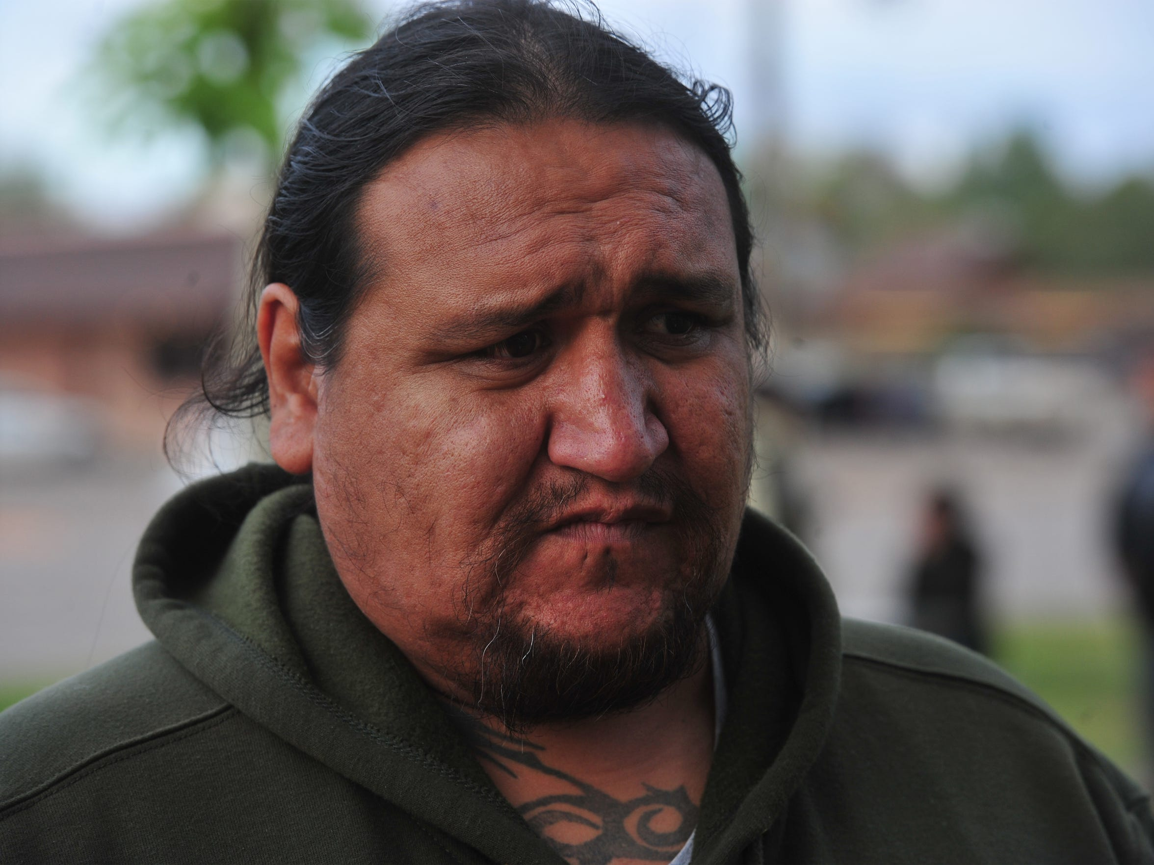 """Scoby Baker was one of the people who was picked up in the 2013 """"wino-roundup"""" in Wolf Point.  Baker says he hadn't had any alcohol and had only just arrived in Wolf Point when tribal police apprehended his party, detaining them in the tribal jail until the next day."""