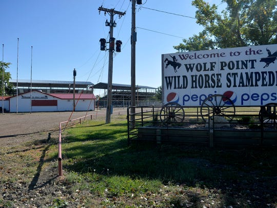 Wolf Point rodeo grounds where the annual Wolf Point Wild Horse Stampede takes place every summer.
