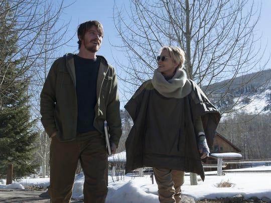 Garrett Hedlund as Joel and Sharon Stone as Olivia