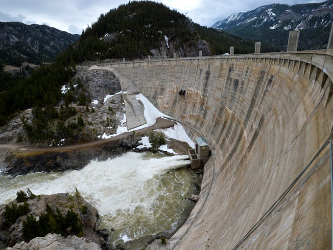 Gibson Dam captures water used for irrigation. It was