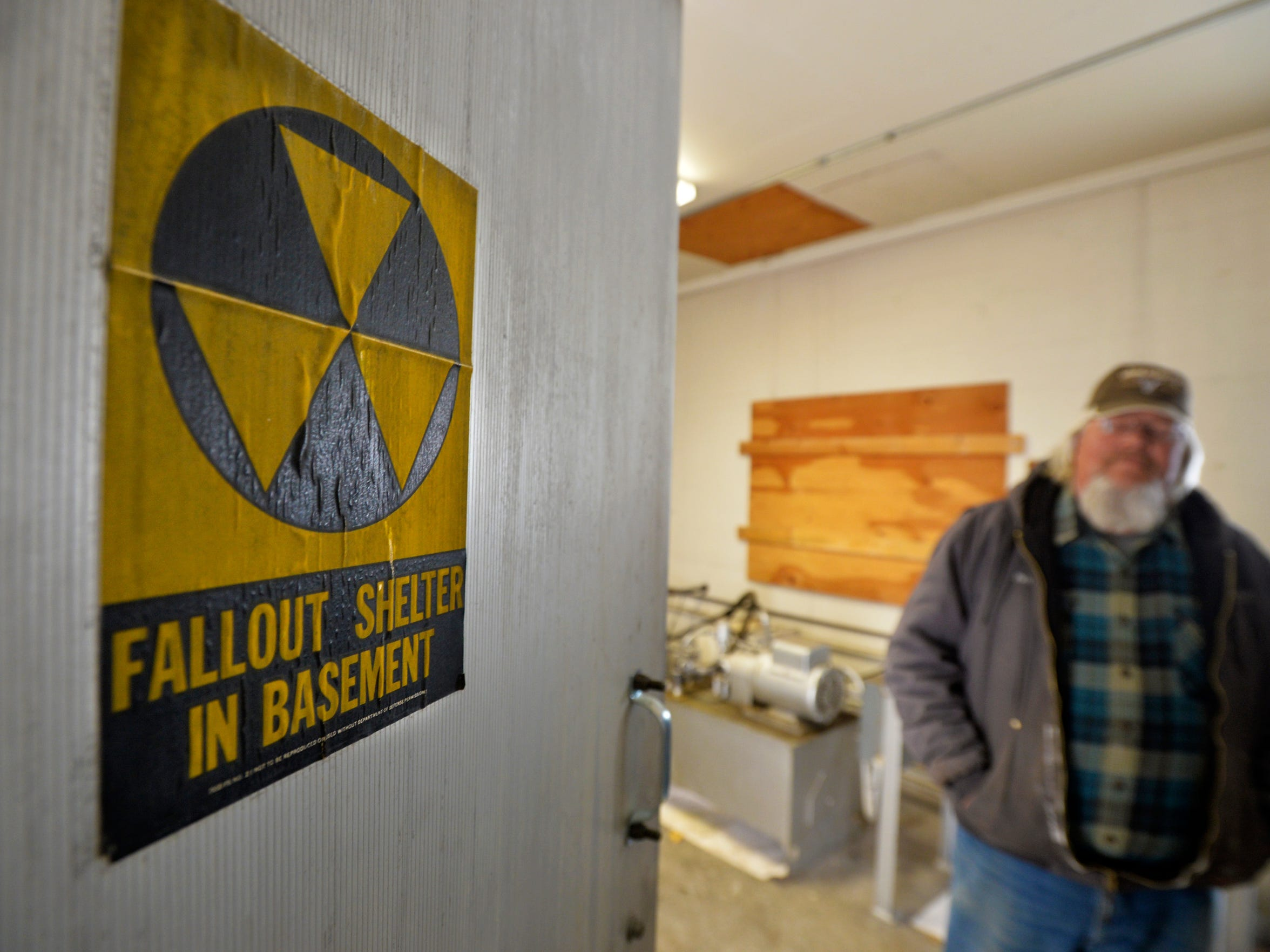 The concrete Gibson Dam gatehouse was designated as a fallout shelter.