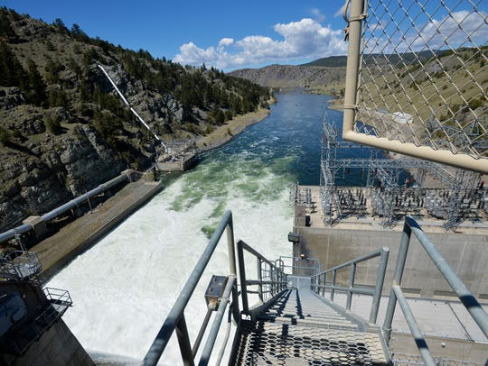 A maintenance stairway from the top of Canyon Ferry