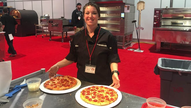 Kim Yacone, of Deming's Forghedaboutit Authentic NY Italian, placed third in the Best Traditional Pizza in the Southwest category at the 34th annual International pizza expo competition