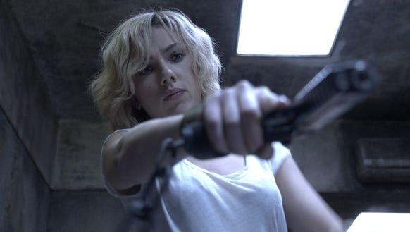 'Lucy,' starring Scarlett Johansson, was No. 1 in its debut weekend.