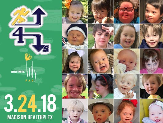 $5 off registration! Support Down syndrome awareness at the 6th Annual Run Up for Downs.