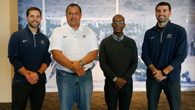 UTEP football head coach Dana Dimel announced the addition of cornerbacks coach Remington Rebstock, defensive line/defensive tackles coach Mike Tuiasosopo, running backs coach Reggie Mitchell and inside wide receivers coach Jake Waters to the staff on Wednesday.