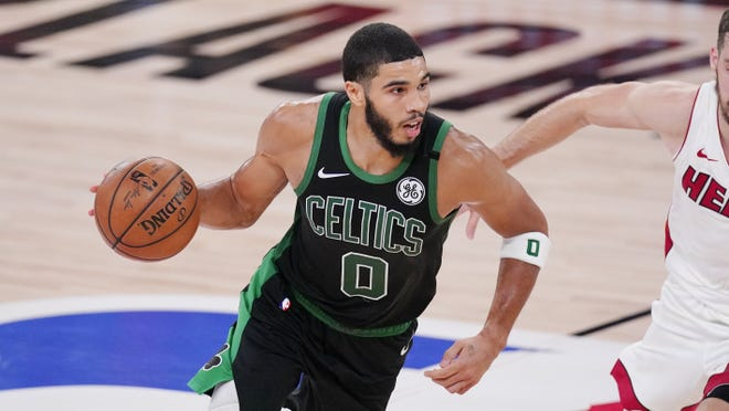 Boston's Jayson Tatum has blossomed into a star during this playoff run.