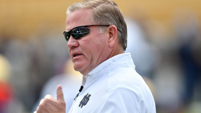 Brian Kelly got into a testy exchange with a reporter after Saturday's loss.