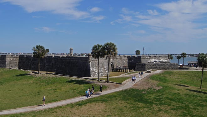 Castillo de San Marcos is the most popular attraction in St. Augustine as the oldest masonry fort in the United States, completed in 1695, to protect treasure fleets, the harbor and local inhabitants from pirate invasions.