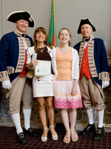 After a naturalization ceremony in Philadelphia in
