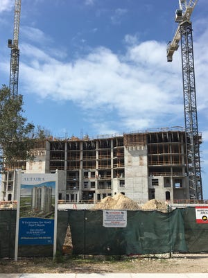 WCI's new high rise Altaira in Bonita Springs' Pelican Landing community broke ground in 2015; one of three towers the company is entitled to build there.