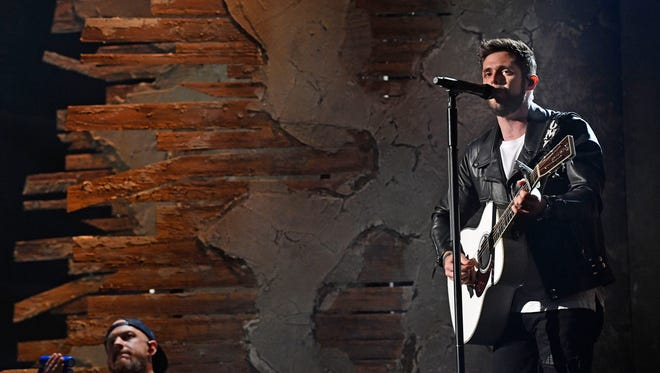 Thomas Rhett rehearses for the 53RD Academy of Country Music Awards at the MGM Grand Garden Arena  Friday April 13, 2018, in Las Vegas, NV