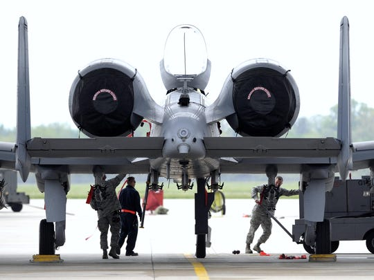 There are 21 A-10 attack planes at Selfridge, and operations related to the jet support 180 full-time jobs and nearly 300 part-time jobs there. The military has said replacing the A-10 fleet with the F-35 joint strike fighter would save more than $4.7 billion.