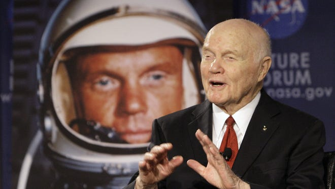 John Glenn in Columbus, Ohio, in 2012.