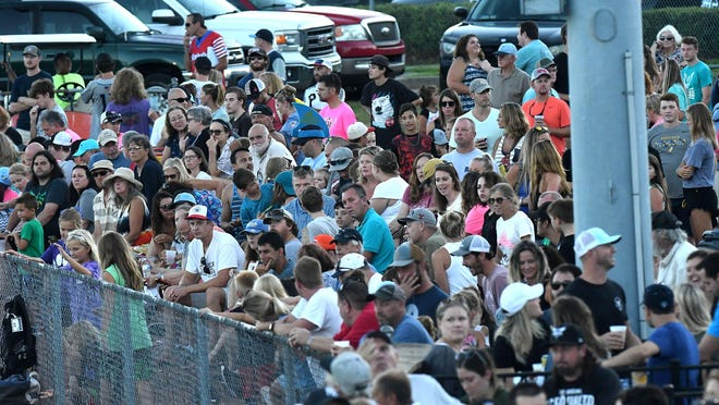 Hundreds of people came out Saturday, August 3, 2019, to see the final game of the season as the Wilmington Sharks took on Fayetteville at Buck Hardee Field in Wilmington, N.C.  The Sharks beat the Swamp Dogs 16-3.