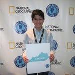 Pranav Kanmadikar represented Kentucky in the National Geographic Bee.