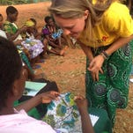 UNC Asheville alumna Emma Bussard works as a Peace Corps volunteer in the village of Bondo in Malawi, serving as community health adviser.