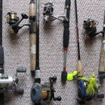 Some rods and reels all cleaned up and ready for action.