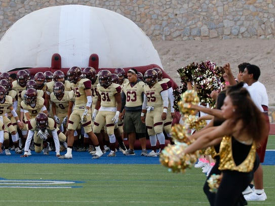 The Andress Eagles prepared to take the field Thursday
