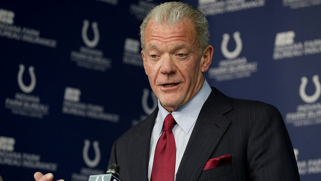 """""""You have tomake sure we're going to build this right,"""" Jim Irsay said Saturday after the 2017 NFL Draft ended."""